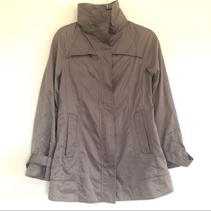 Hilary Radley Tan Packable City Raincoat In XS